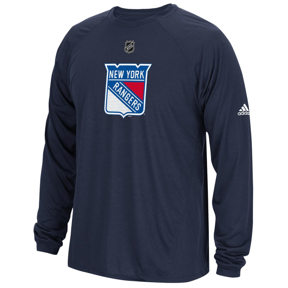 Adidas Men's New York Rangers Primary Position Climalite Long-Sleeve Tee - Blue, M