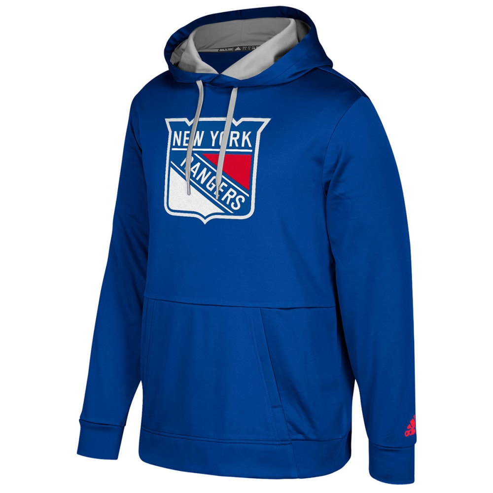 Adidas Men's New York Rangers Authentic Finished Pullover Hoodie - Blue, M