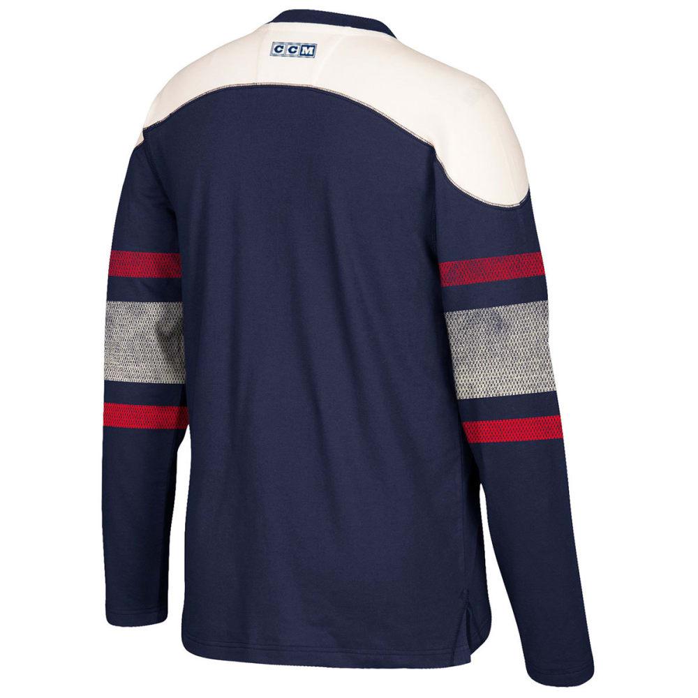 NEW YORK RANGERS Men's CCM Applique Crew Long-Sleeve Shirt - ROYAL BLUE