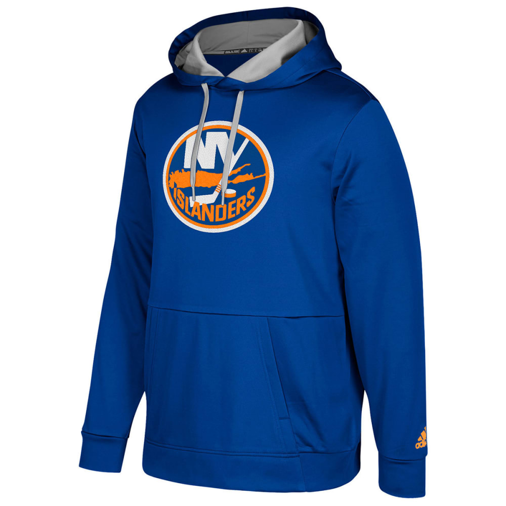 ADIDAS Men's New York Islanders Authentic Finished Pullover Hoodie - ROYAL BLUE