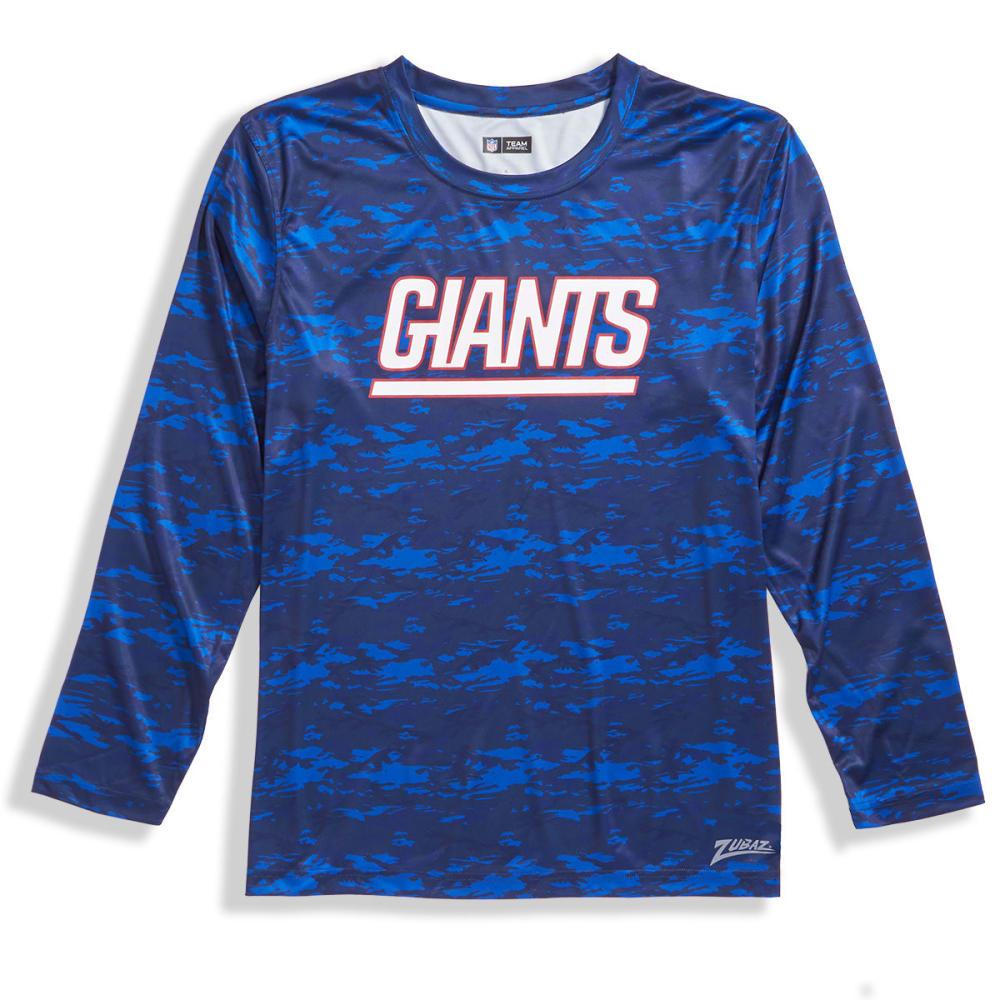 NEW YORK GIANTS Men's Tone-on-Tone Post Poly Long-Sleeve Tee - ROYAL BLUE