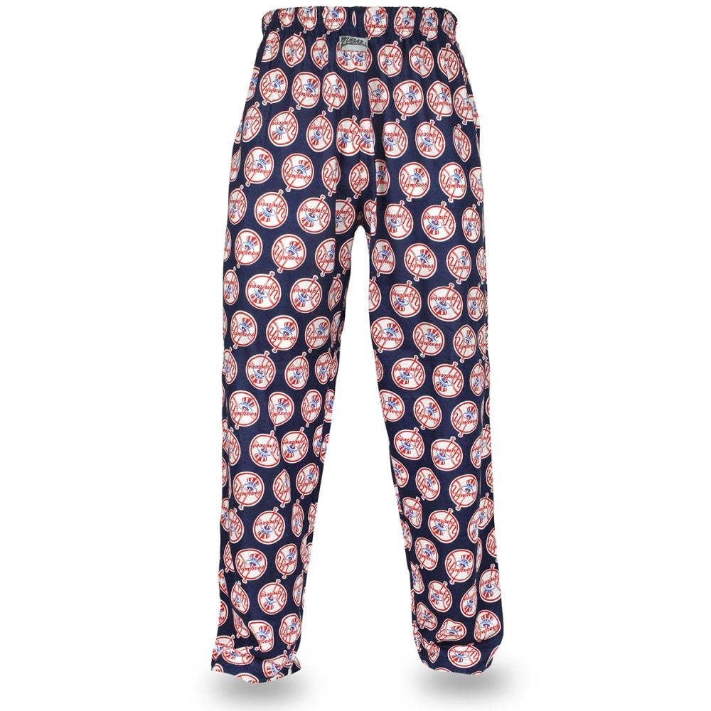 NEW YORK YANKEES Men's Zubaz Logo Comfy Pants - NAVY