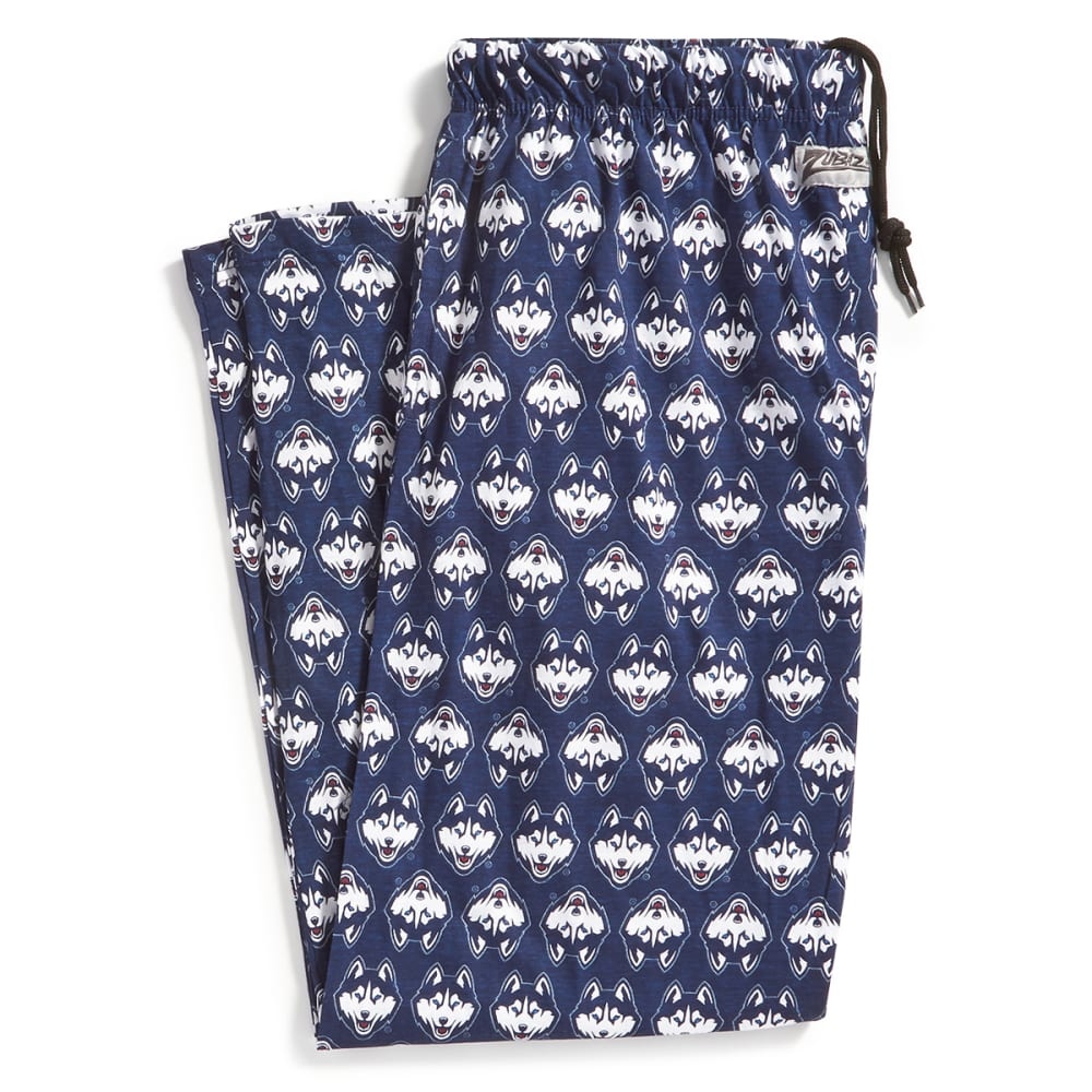UCONN Men's Zubaz Logo Comfy Pants - NAVY