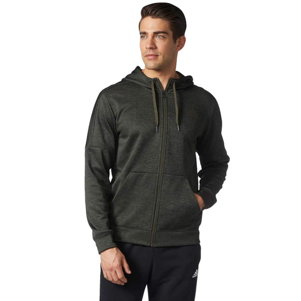ADIDAS Men's Team Issue Fleece Full Zip Hoodie - FL NT/CARGO-BQ8728