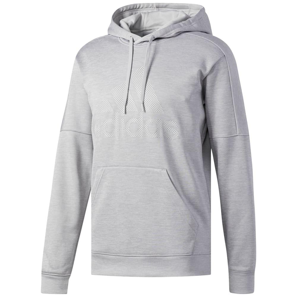 ADIDAS Men's Team Issue Fleece Pullover Hoodie - FL GREY-BQ8761