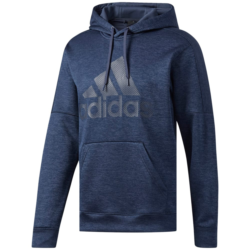 Adidas Men's Team Issue Fleece Pullover Hoodie - Blue, M