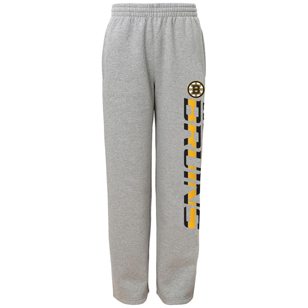 BOSTON BRUINS Boys' Fleece Pants - GREY