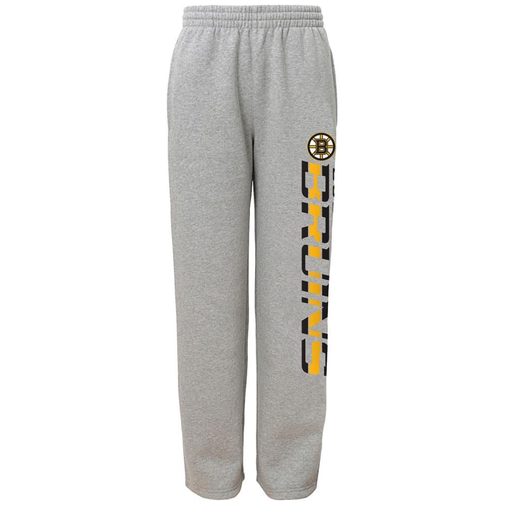 BOSTON BRUINS Boys' Fleece Pants - GREY