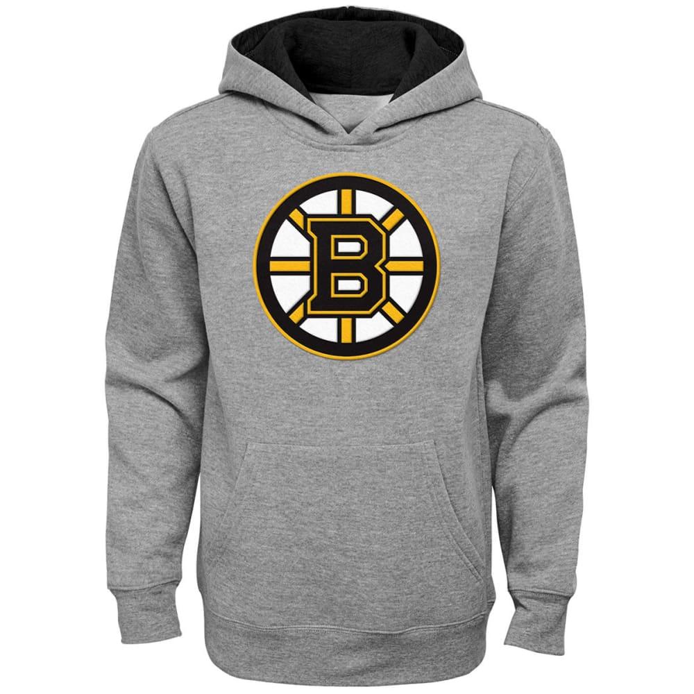 BOSTON BRUINS Boys' Prime Pullover Hoodie - GREY