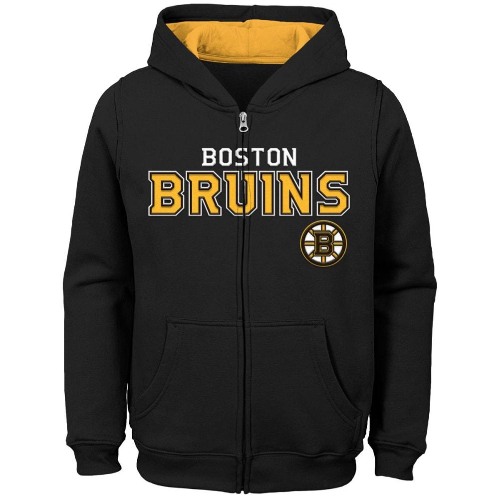 BOSTON BRUINS Big Boys' Stated Full-Zip Hoodie - BLACK