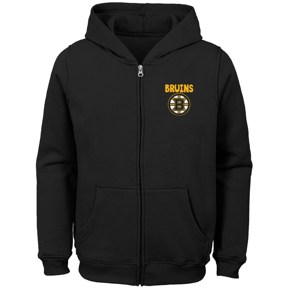 BOSTON BRUINS Little Boys' Full-Zip Hoodie - BLACK