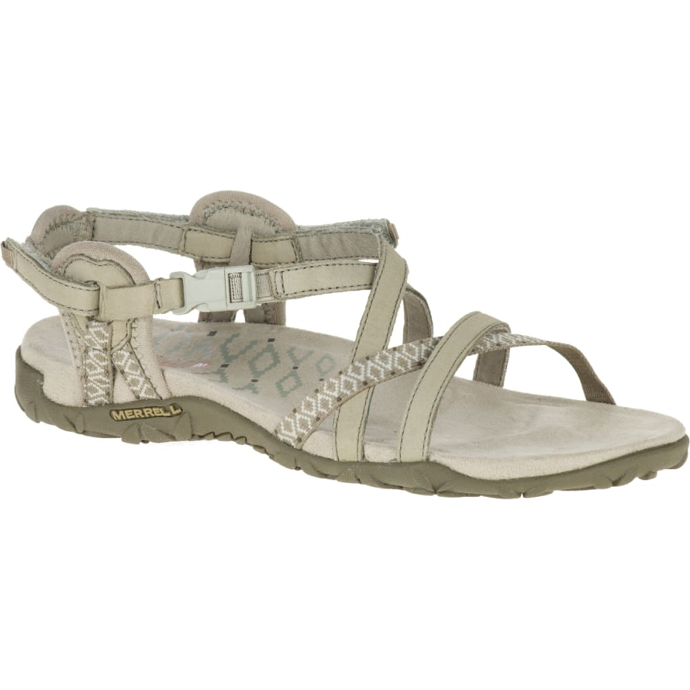 MERRELL Women's Terran Lattice II Sandals, Taupe - TAUPE