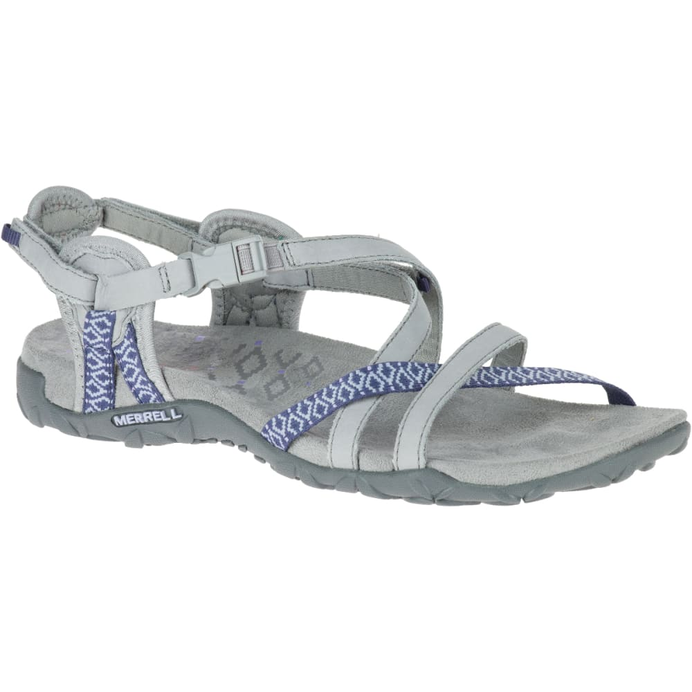 MERRELL Women's Terran Lattice II Sandals, Sleet - SLEET