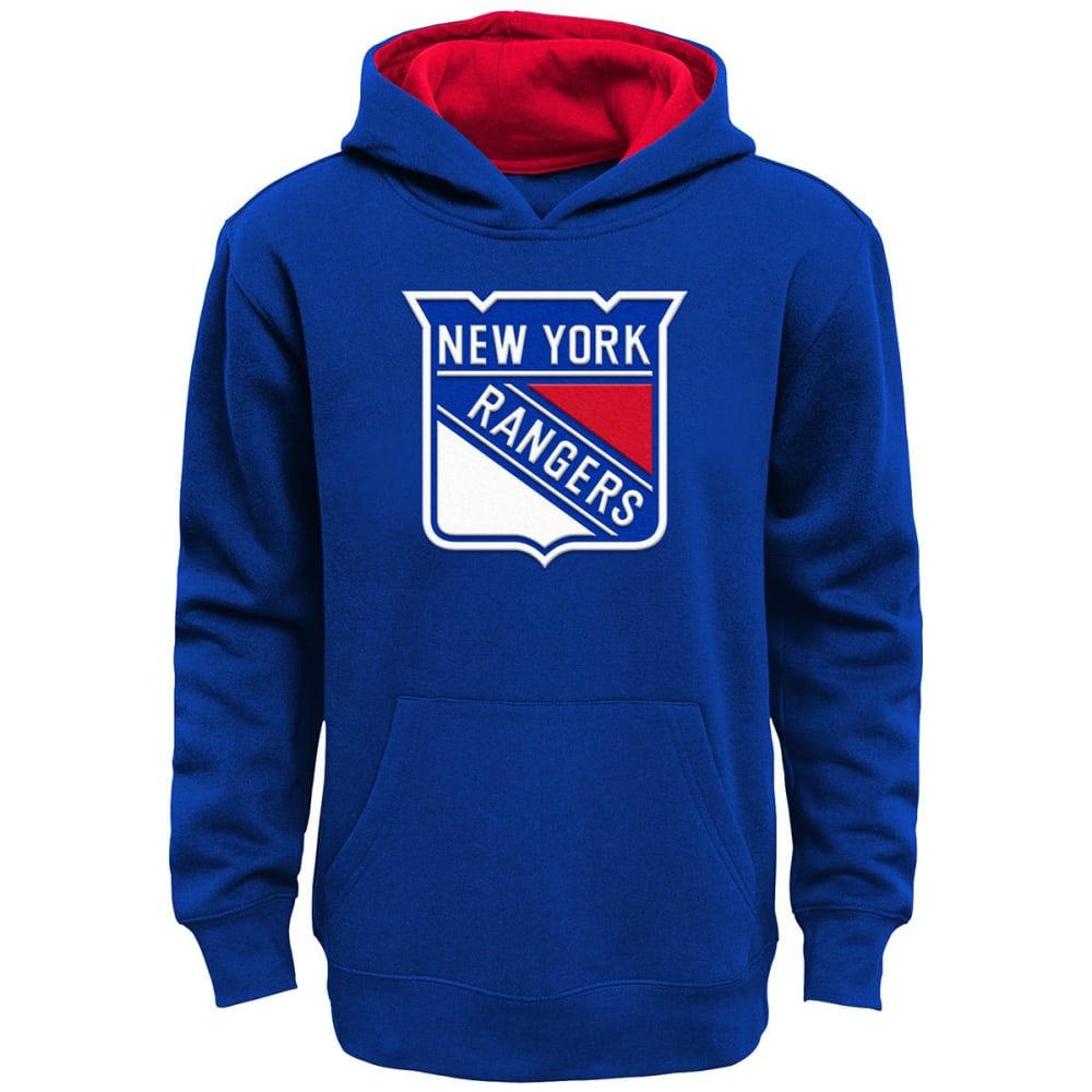 NEW YORK RANGERS Big Boys' Prime Pullover Hoodie - ROYAL BLUE