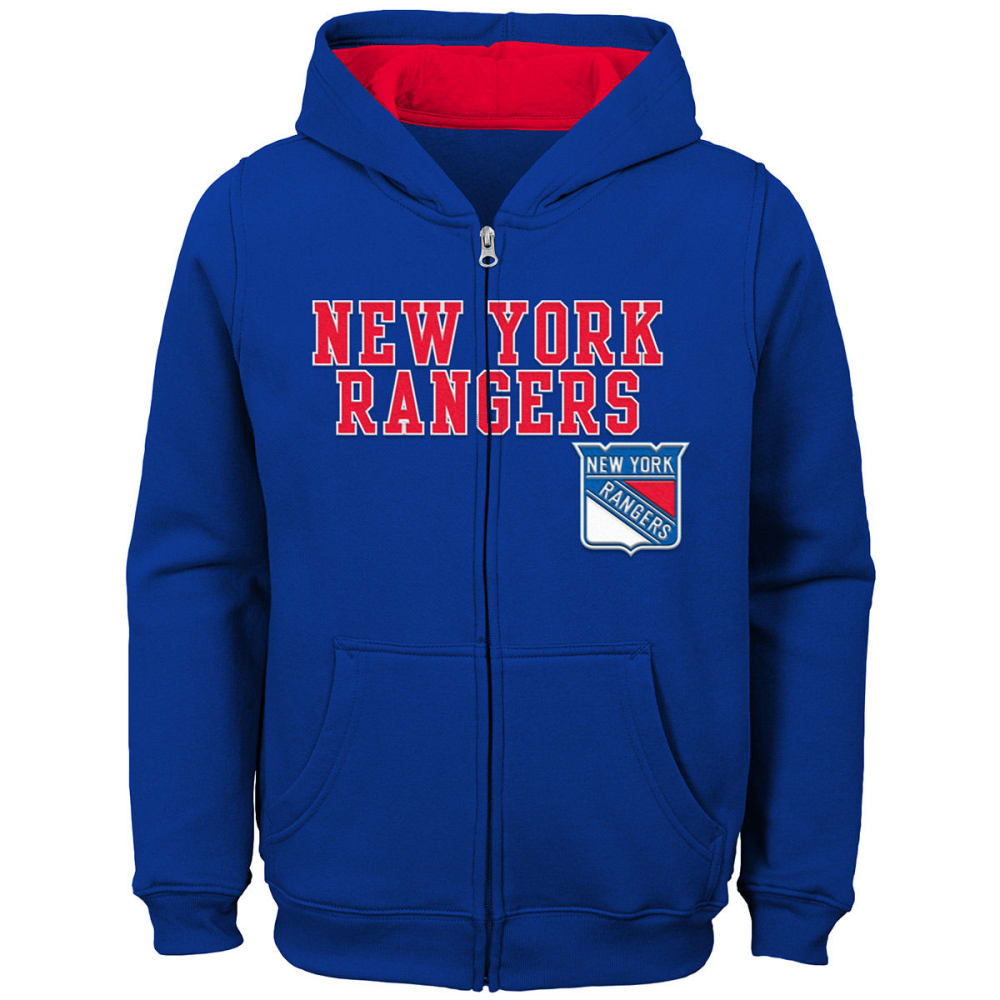 NEW YORK RANGERS Big Boys' Stated Full-Zip Hoodie - ROYAL BLUE