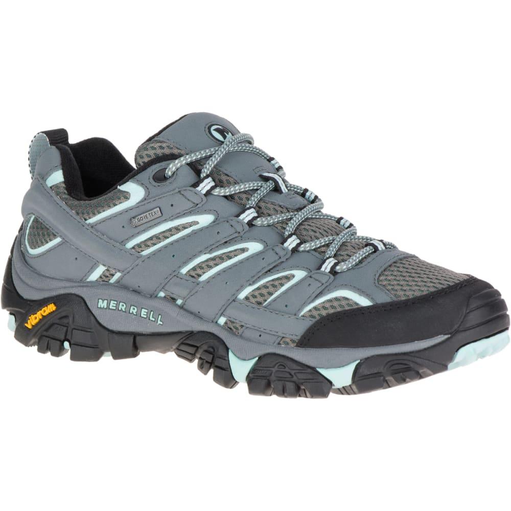 MERRELL Women's Moab 2 GORE-TEX Waterproof Hiking Boots, Sedona Sage - SEDONA SAGE