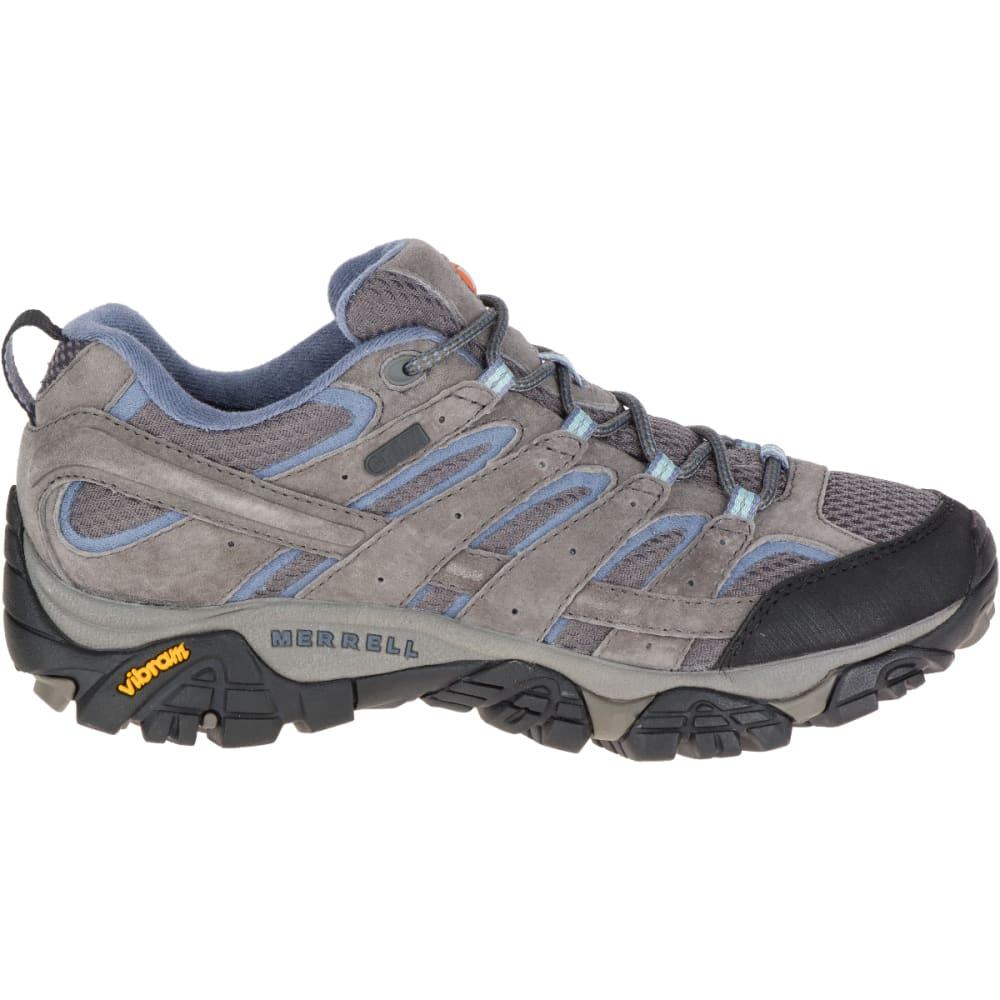 MERRELL Women's Moab 2 Waterproof Hiking Shoes, Granite - GRANITE