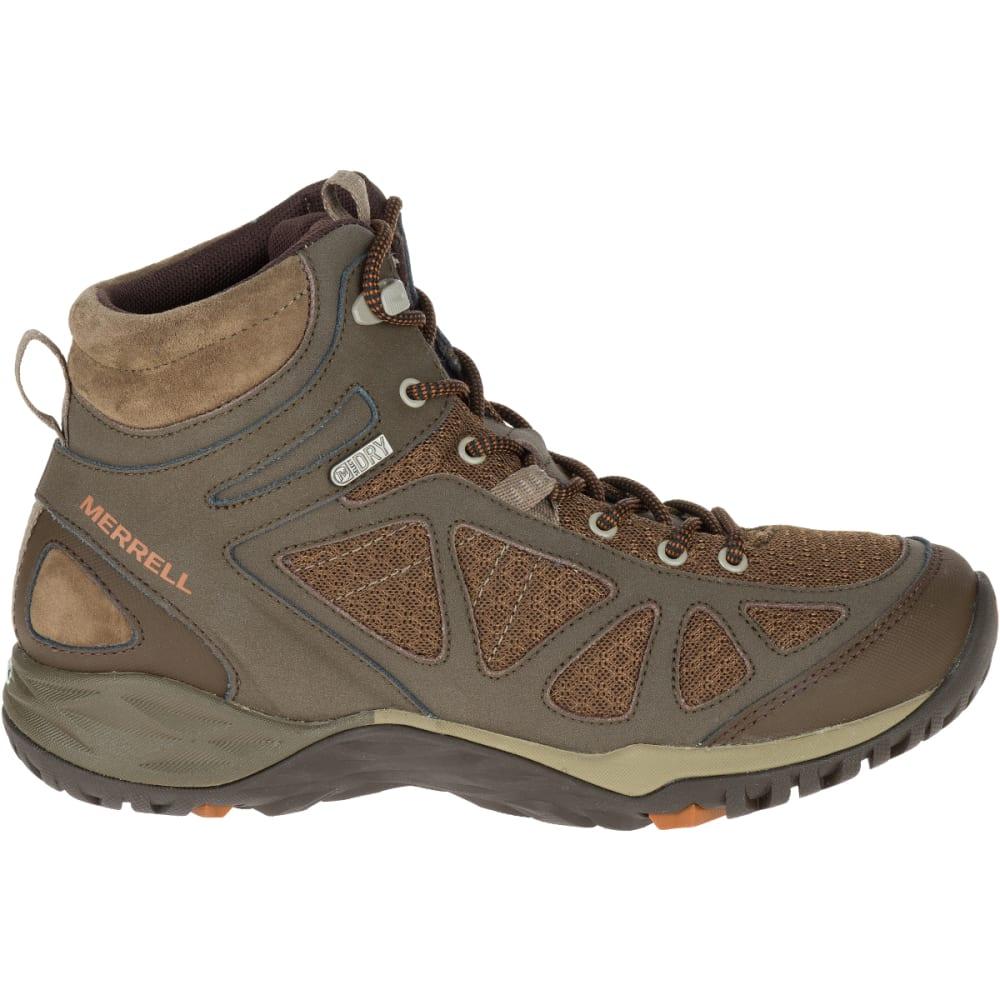MERRELL Women's Siren Sport Q2 Mid Waterproof Hiking Boots, Slate Black, Wide - SLATE BLACK