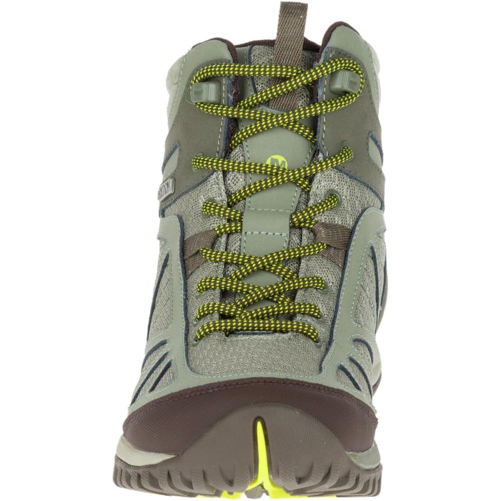 MERRELL Women's Siren Sport Q2 Mid Waterproof Hiking Boots, Dusty Olive - DUSTY OLIVE