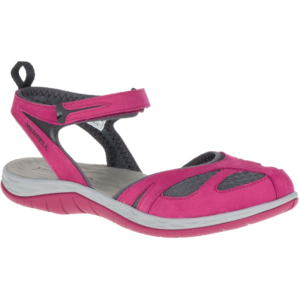 MERRELL Women's Siren Wrap Q2 Sandals, Beet Red - BEET RED