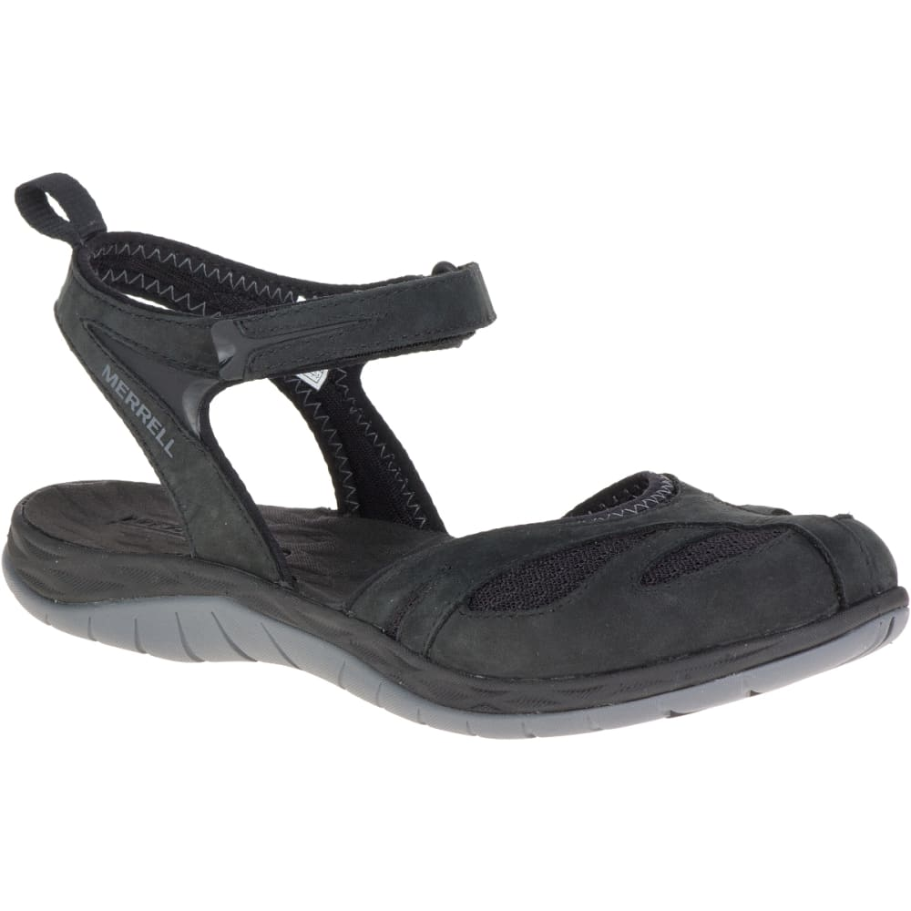 MERRELL Women's Siren Wrap Q2 Sandals, Black - BLACK