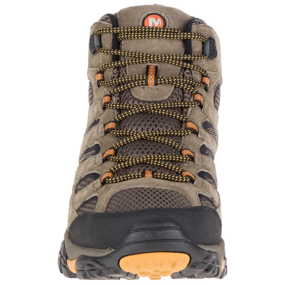 MERRELL Men's Moab 2 Ventilator Mid Hiking Boots, Walnut, Wide - WALNUT