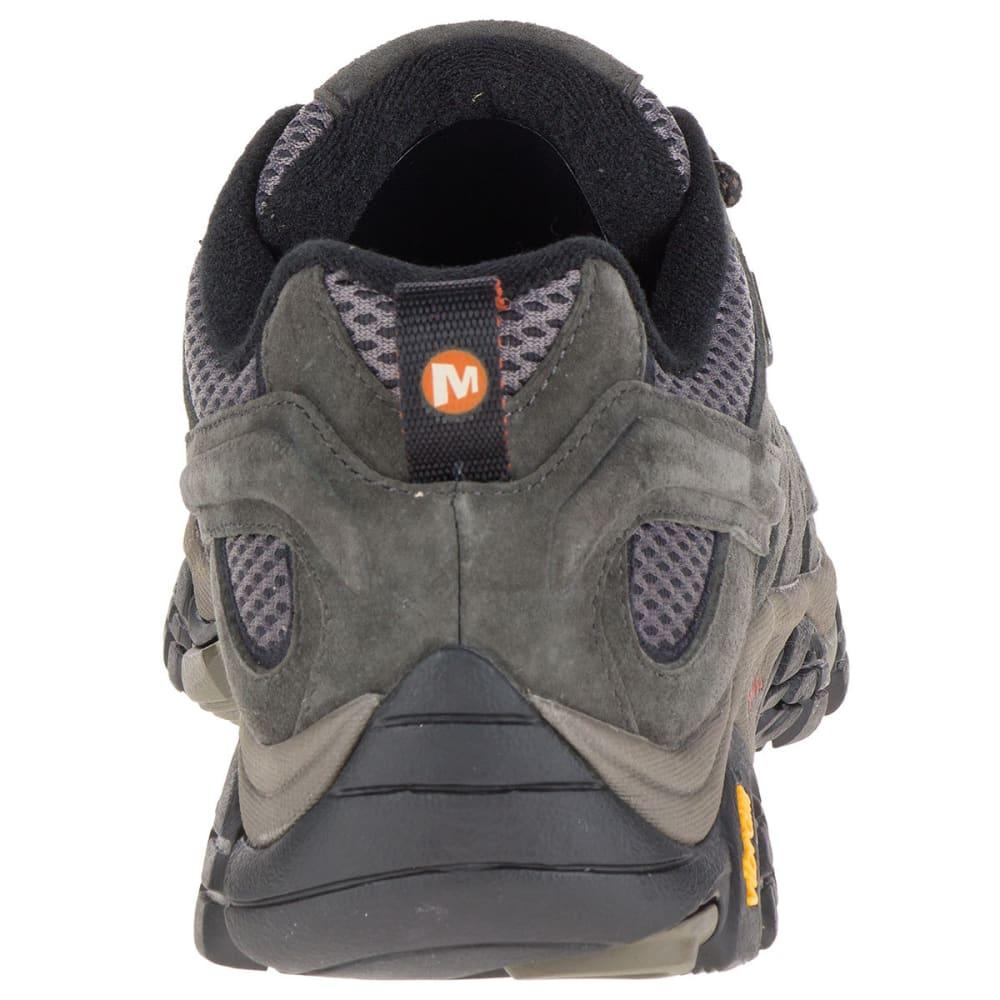 MERRELL Men's Moab 2 Waterproof Hiking Shoes, Beluga, Wide - BELUGA
