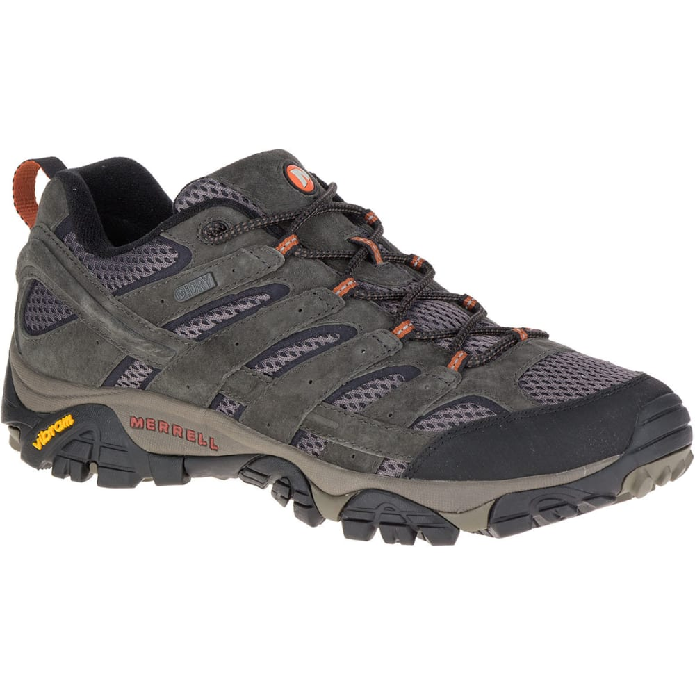 MERRELL Men's Moab 2 Waterproof Hiking Shoes, Beluga, Wide - BELUGA