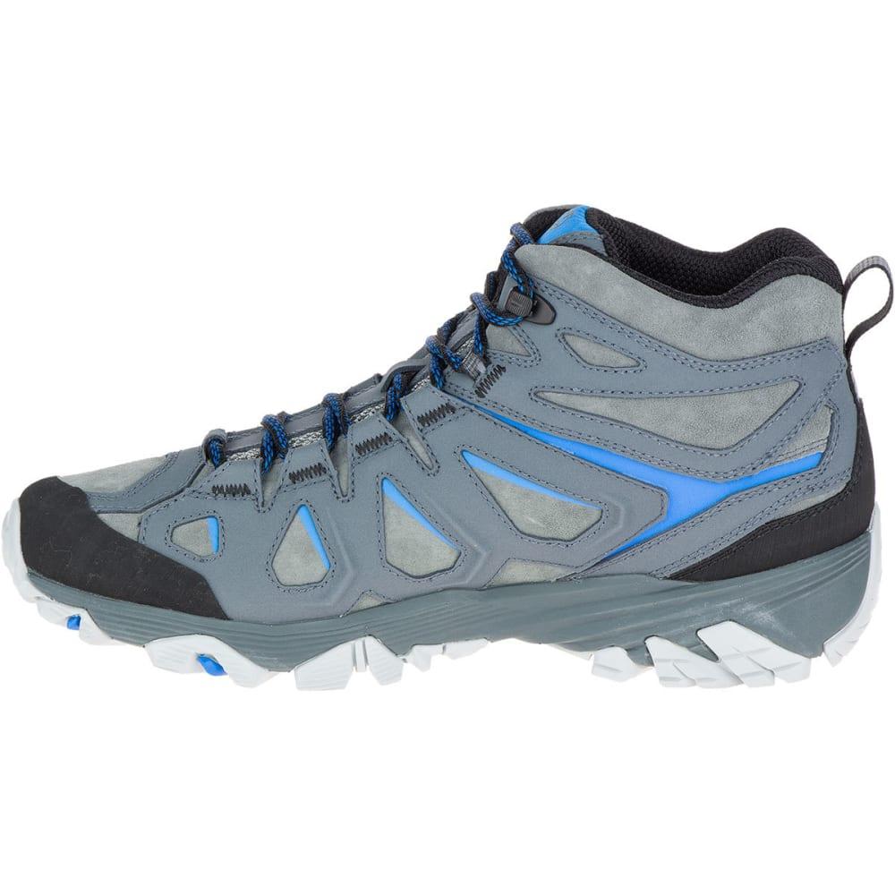 MERRELL Men's Moab FST Leather Mid Waterproof Hiking Boots, Turbulence - TURBULENCE