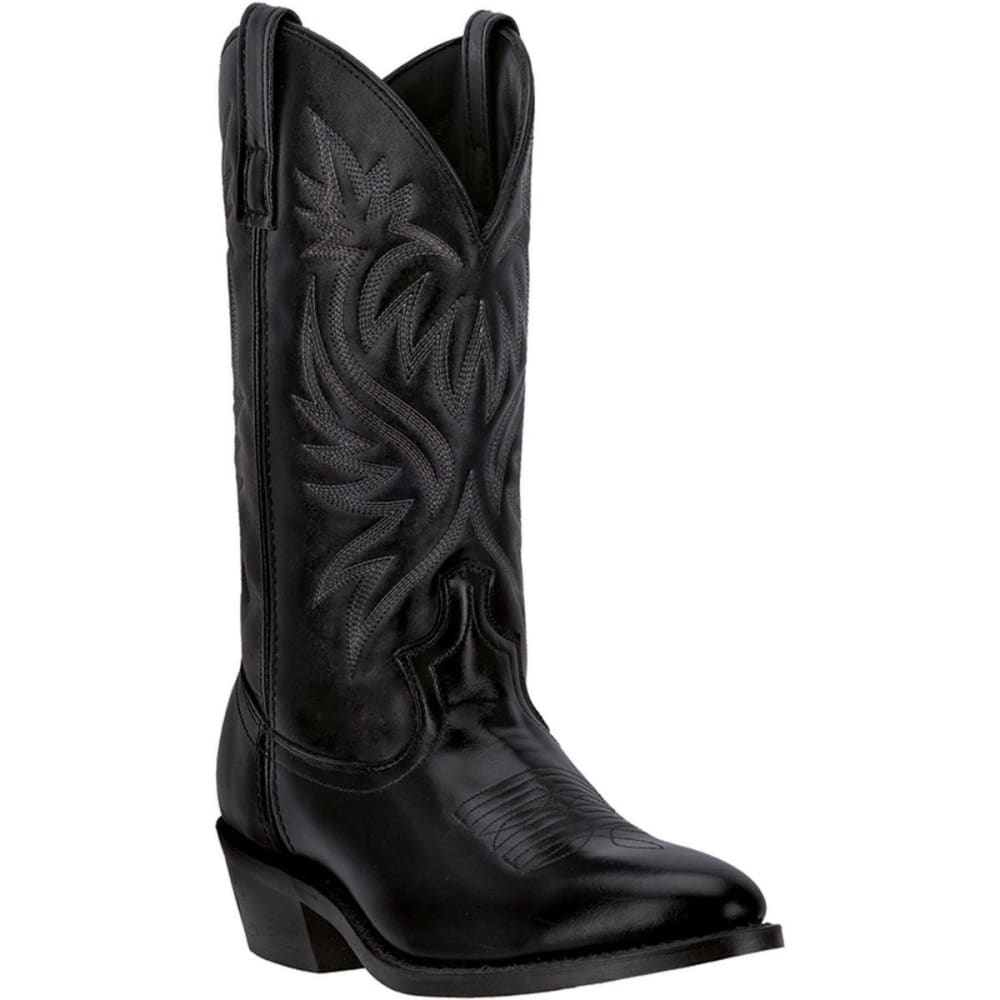 LAREDO Men's London Cowboy Boots, Black, Extra Wide Sizes - BLACK