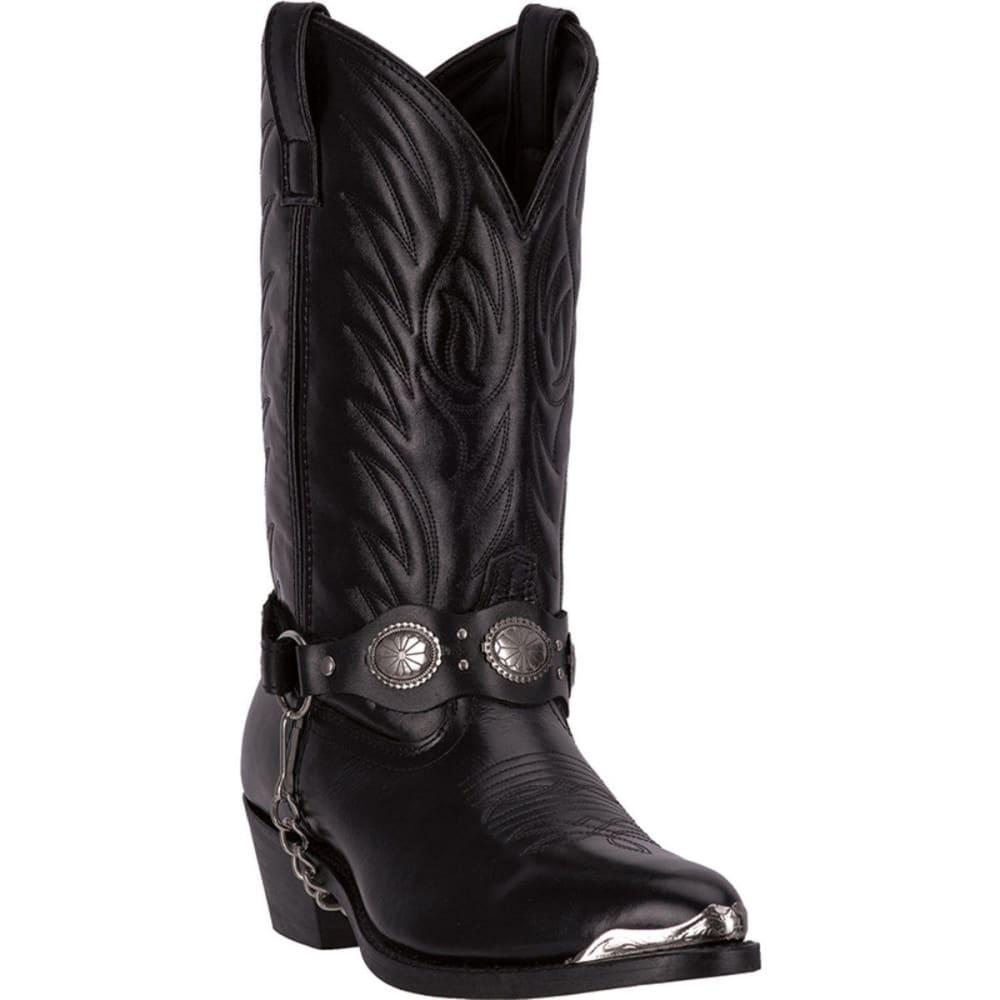 LAREDO Men's Tallahassee Cowboy Boots, Black, D-Width - BLACK