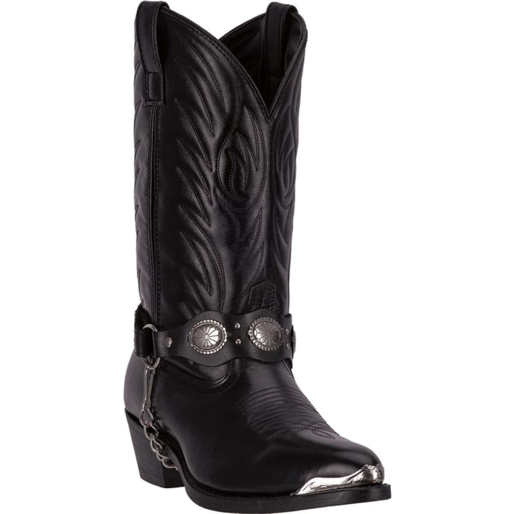 LAREDO Men's Tallahassee Cowboy Boots, Black, Extra Wide Sizes - BLACK