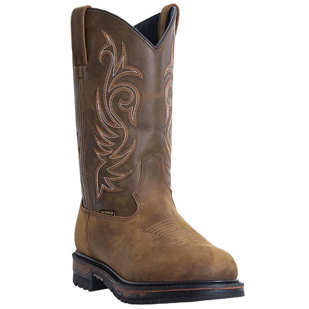 LAREDO Men's Hammer Waterproof Steel Toe Cowboy Boots, Tan/Brown, Extra Wide Sizes - TAN CHEYENNE