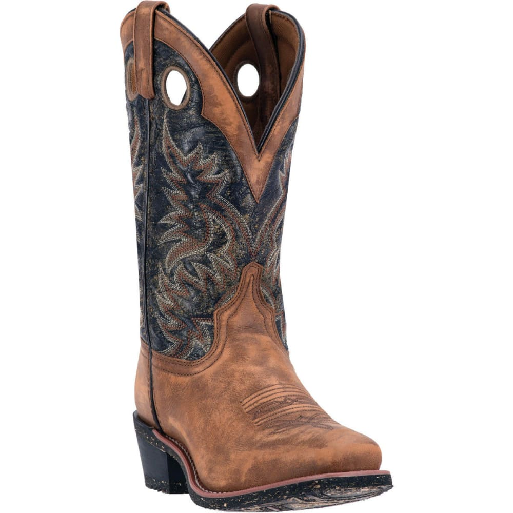 LAREDO Men's Stillwater Cowboy Boots, Tan/Black, D Width - TAN SANDED