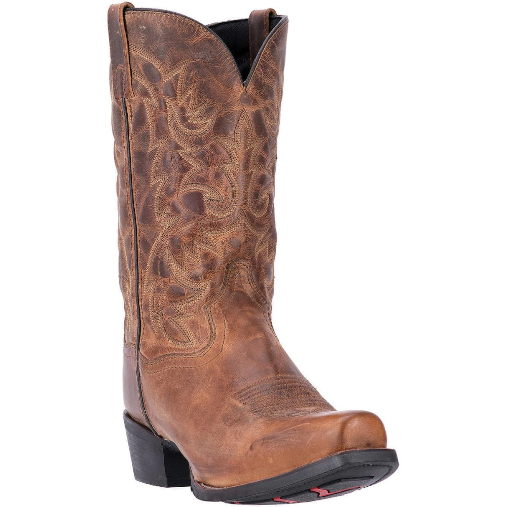 LAREDO Men's Bryce Cowboy Boots, Tan, Extra Wide Sizes - TAN DISTRESSED