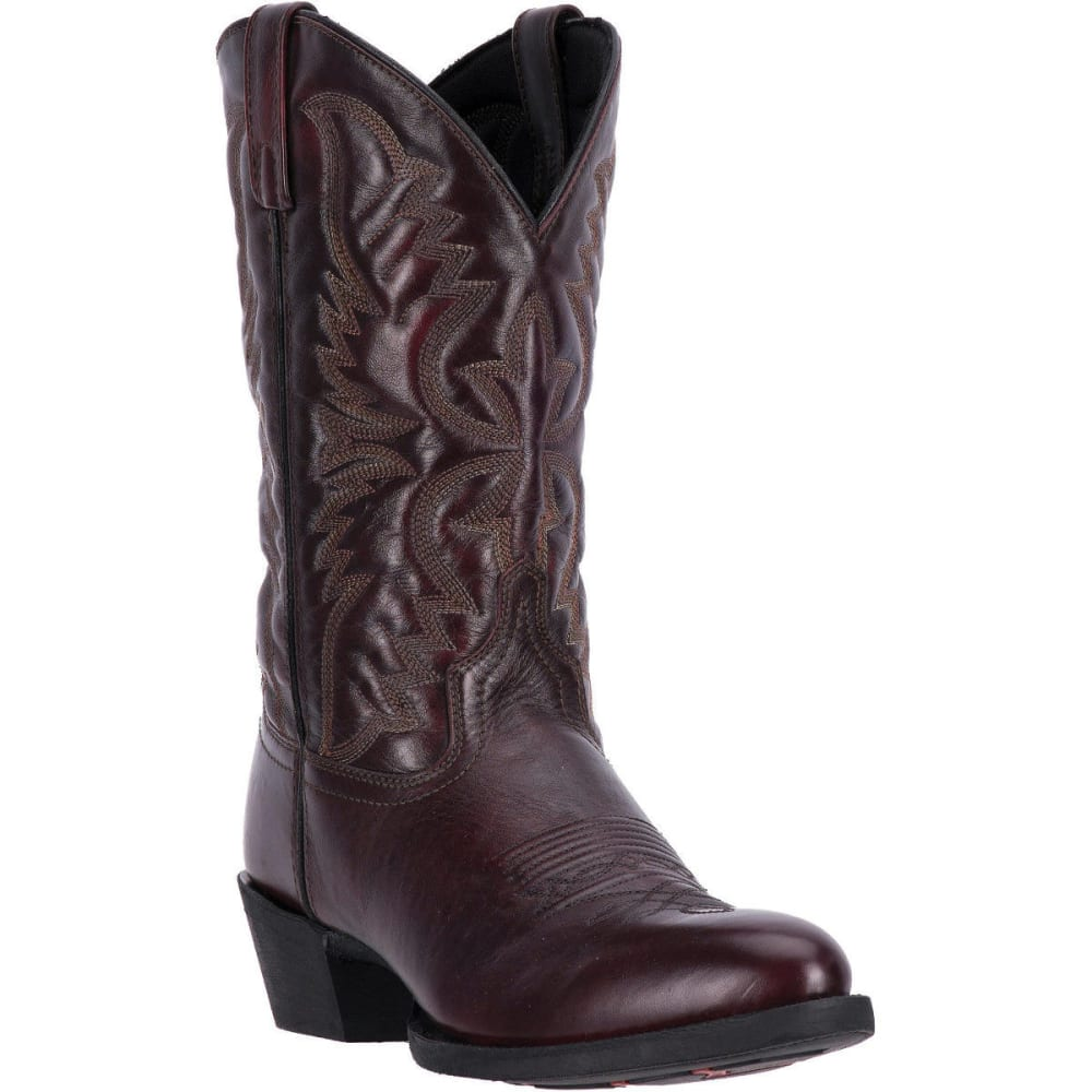 LAREDO Men's Birchwood Cowboy Boots, Black Cherry, Extra Wide Sizes - BLACK CHERRY