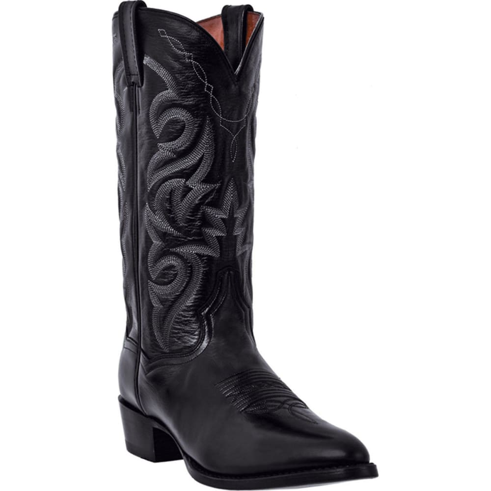 DAN POST Men's Milwaukee Cowboy Boots, Black, Extra Wide Sizes - BLACK