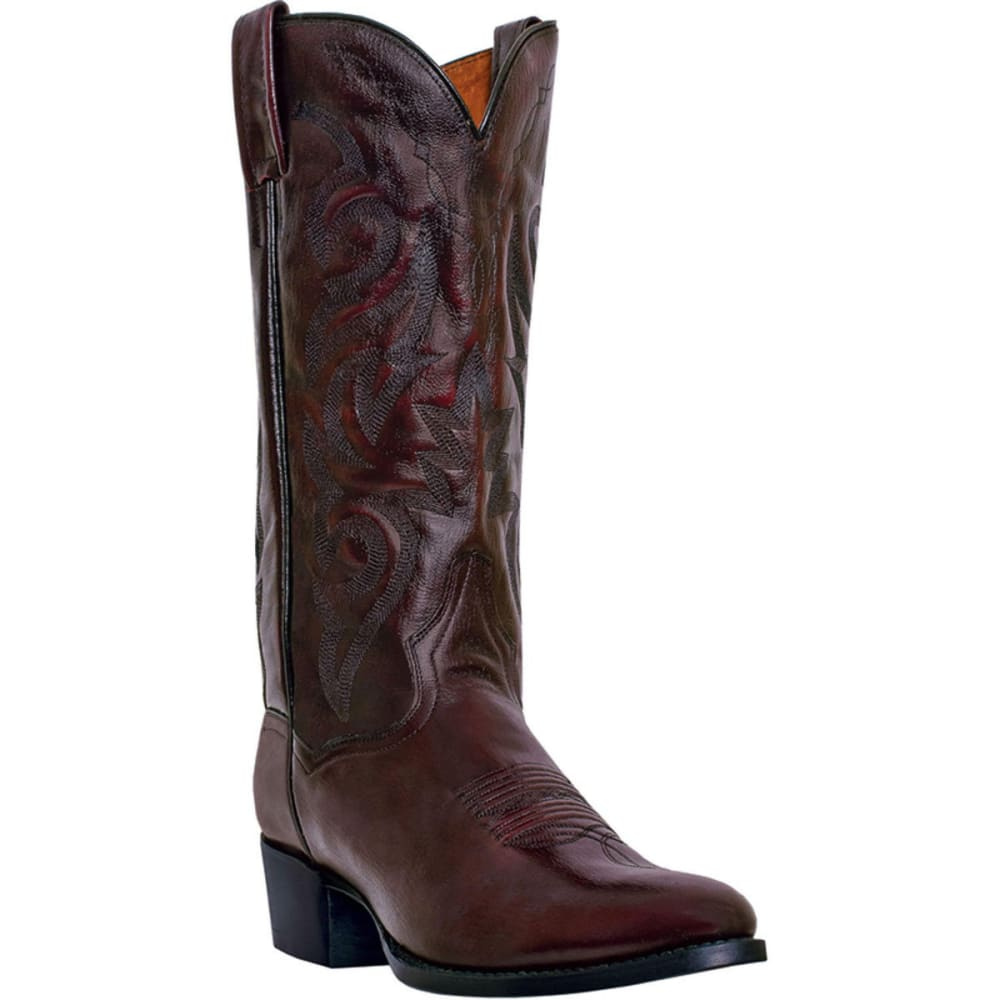 DAN POST Men's Milwaukee Cowboy Boots, Black Cherry, Extra Wide Sizes - BLACK CHERRY