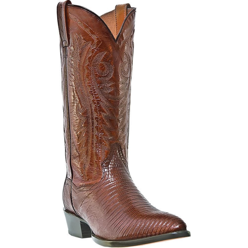 DAN POST Men's Raleigh Cowboy Boots, Antique Tan, Extra Wide Sizes - BROWN