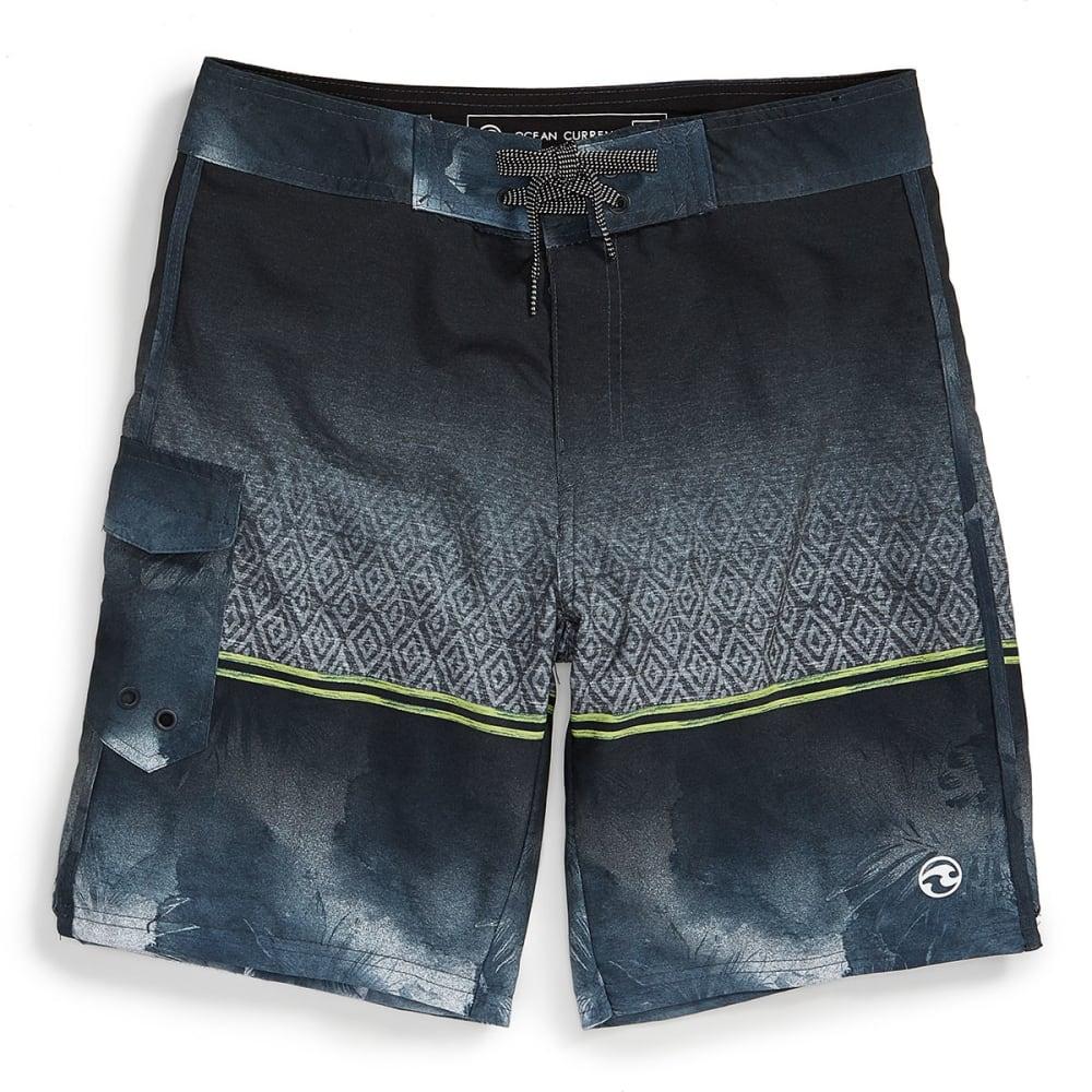 OCEAN CURRENT Guys' Kendrick Ombre Boardshorts - GREY