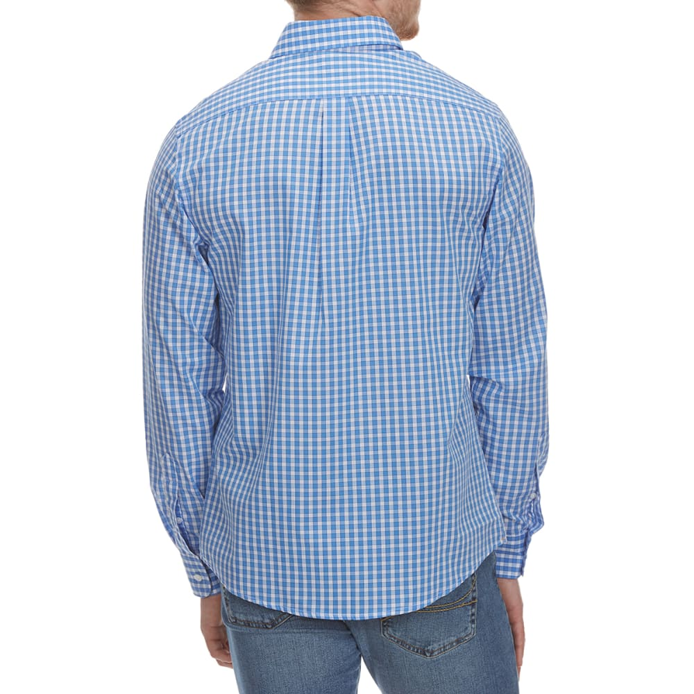 DOCKERS Men's Anchor Grid Woven Long-Sleeve Shirt - MERIDIAN BLUE-0070