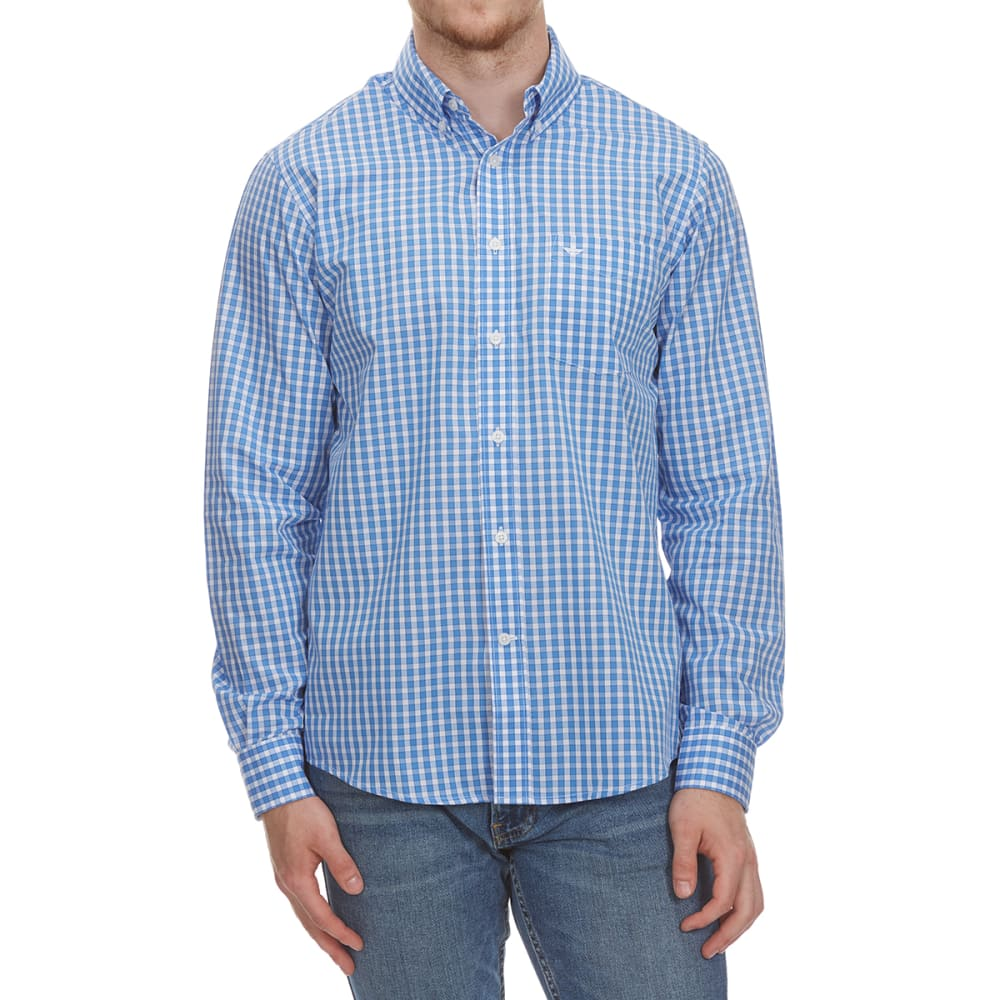 Dockers Men's Anchor Grid Woven Long-Sleeve Shirt - Blue, M