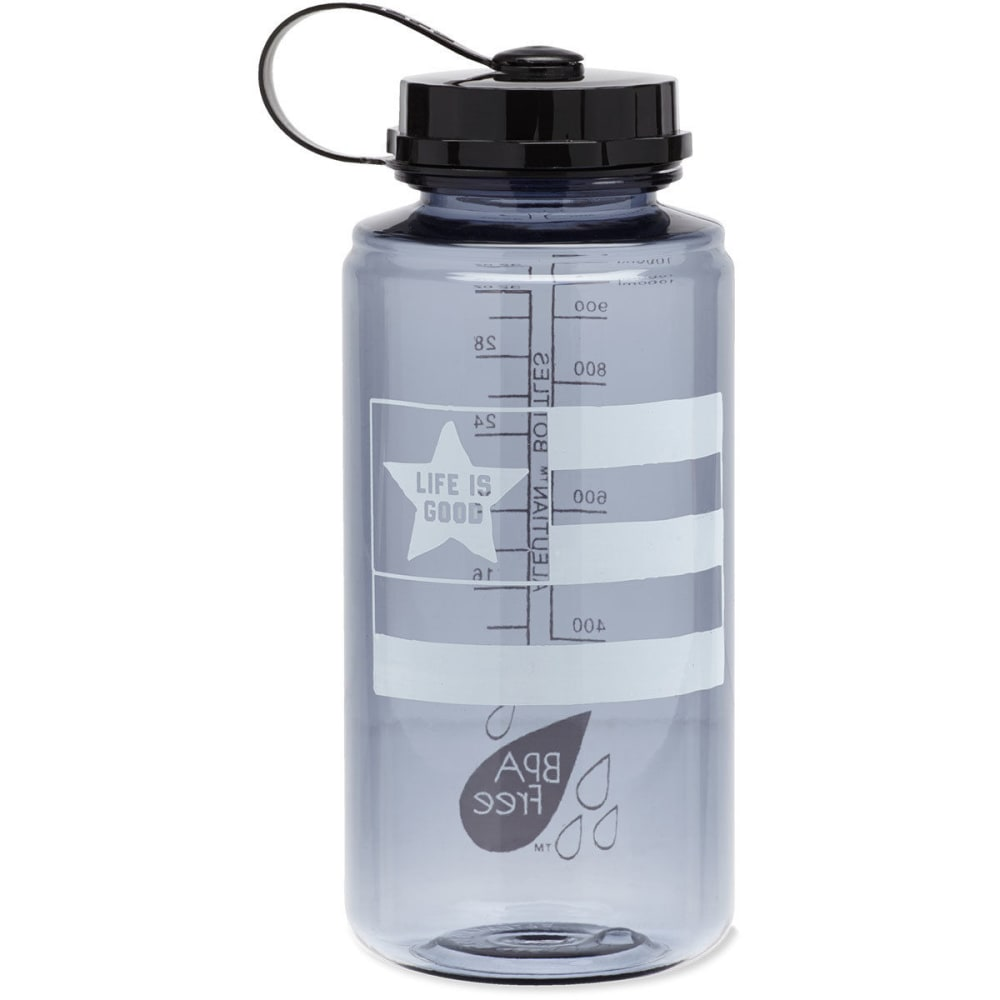 LIFE IS GOOD L.I.G. Flag Water Bottle - NO COLOR