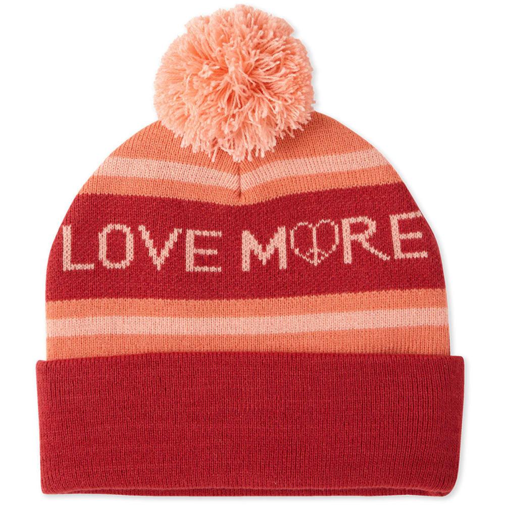 LIFE IS GOOD Women's Love Pom Beanie - FRESH CORAL
