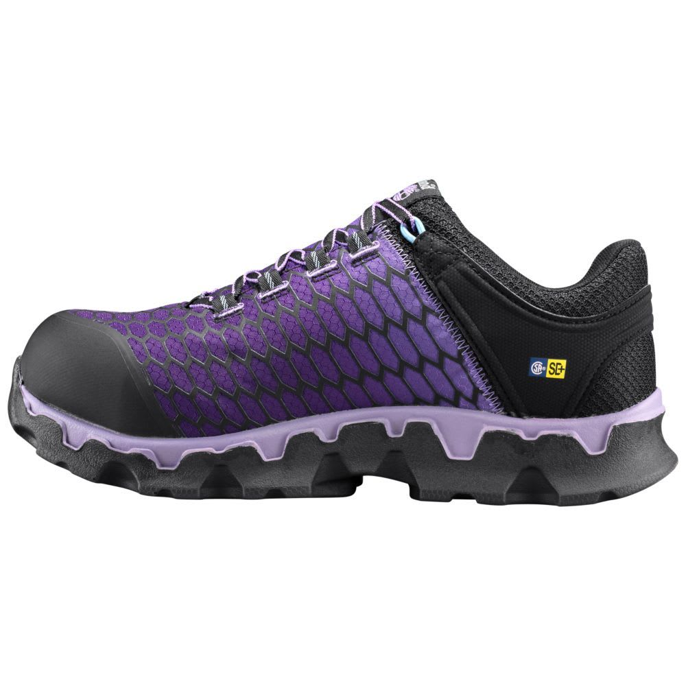 TIMBERLAND PRO Women's Powertrain Sport SD+ Alloy Toe Work Shoes, Lavender - BLACK/LAVENDAR