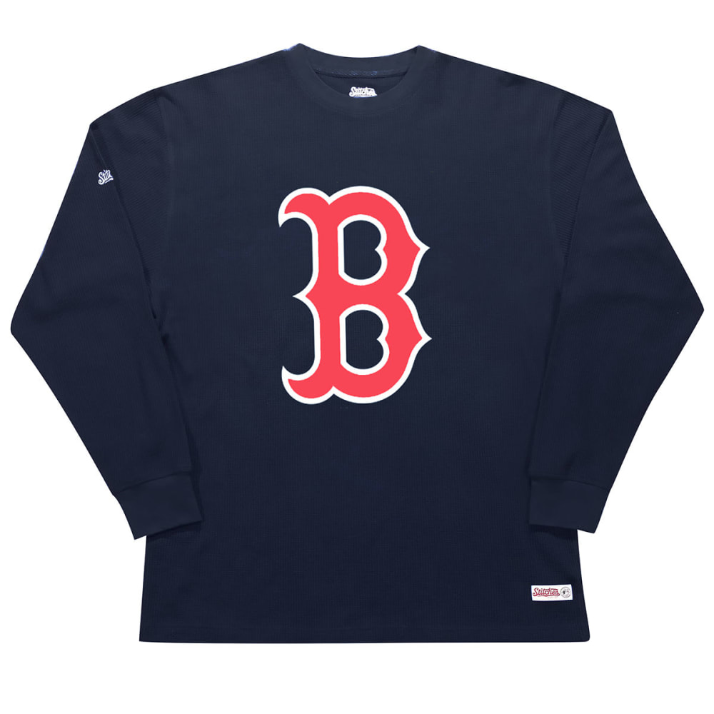 BOSTON RED SOX Men's Thermal Long-Sleeve Shirt - NAVY
