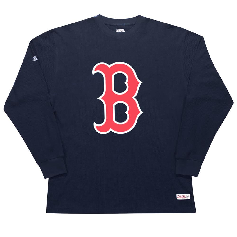 BOSTON RED SOX Men's Thermal Long-Sleeve Shirt - NAVY