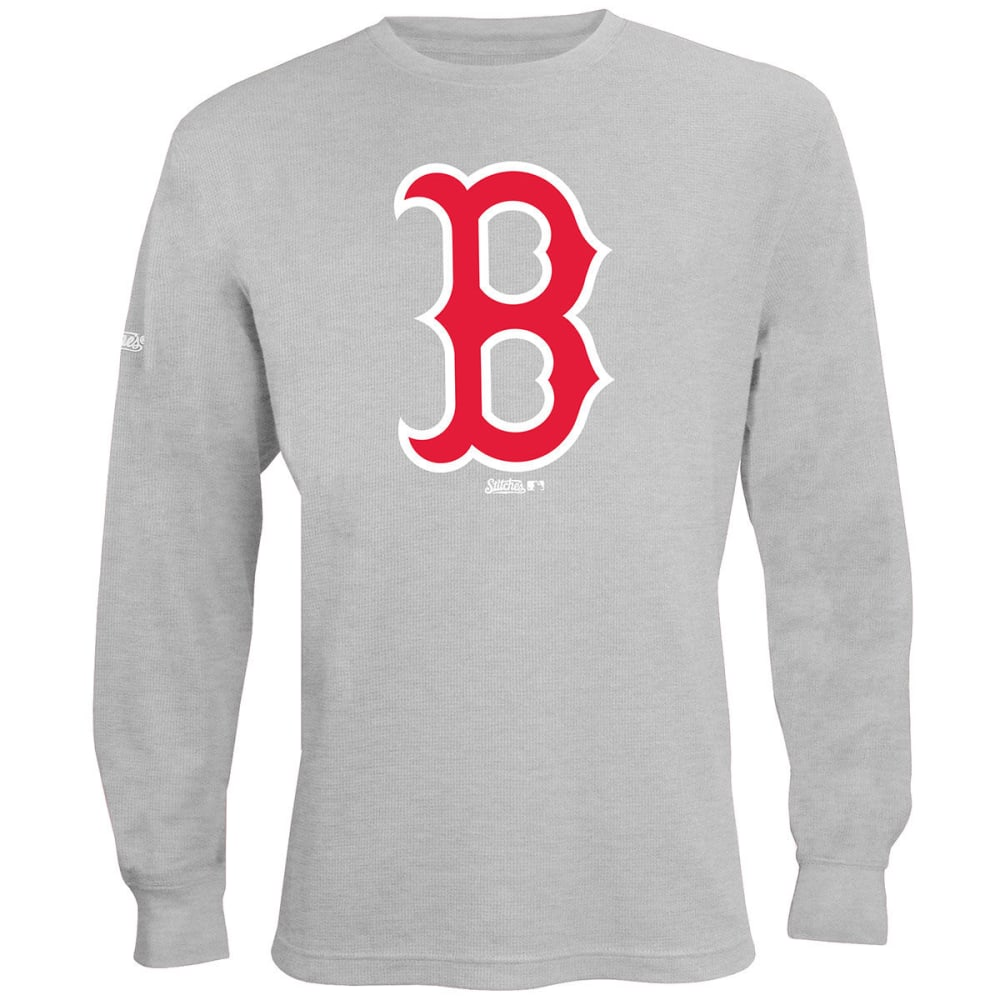 BOSTON RED SOX Men's Thermal Long-Sleeve Top - HEATHER GREY