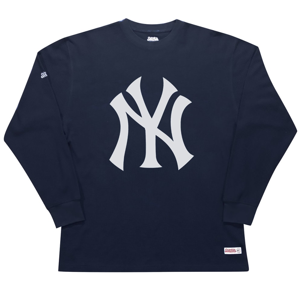 NEW YORK YANKEES Men's Thermal Long-Sleeve Shirt - NAVY