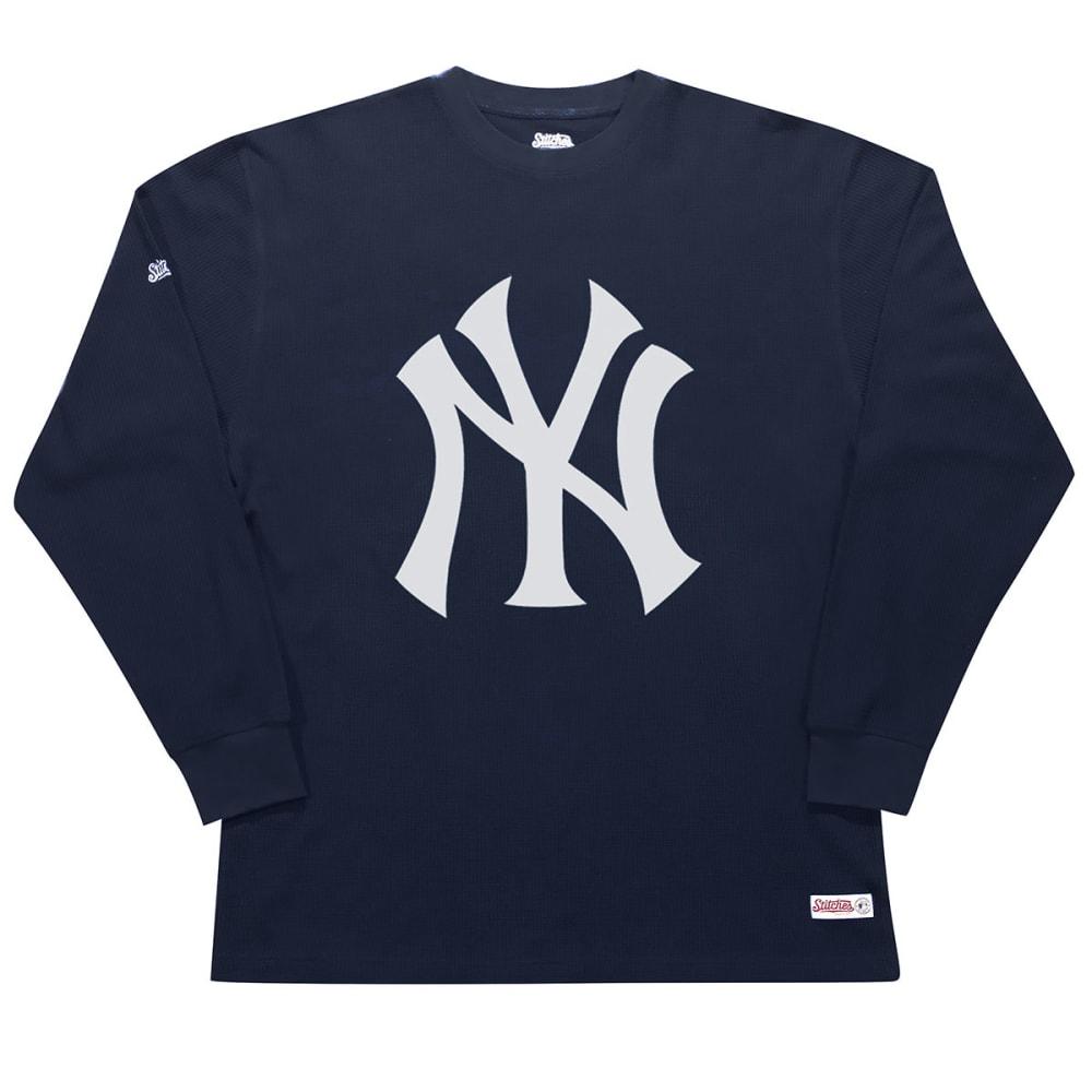 NEW YORK YANKEES Men's Thermal Long-Sleeve Shirt - NAVY